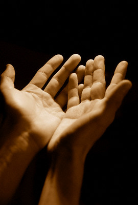 Hands making dua