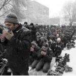Jum'ah Prayer in Kazakhstan - in freezing cold weather