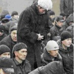 Jum'ah Prayer in Kazakhstan, praying patiently in the snow