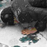 Jum'ah Prayer in Kazakhstan, doing sajdah in the snow