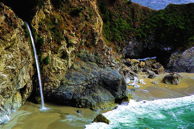 Waterfall on the Big Sur