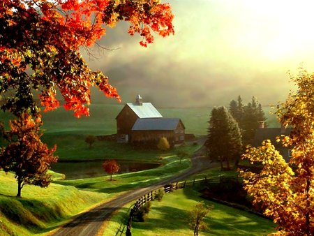 Beautiful farm painting