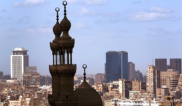 Minarets of a mosque in Cairo, Egypt