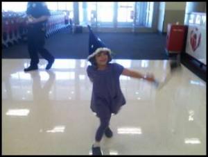 Salma dancing