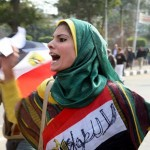 Egyptian woman protesting against Mubarak