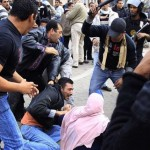 Egyptian man being beaten by police