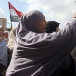 Egyptian women chanting during protests