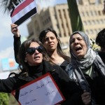 Egyptian women demonstrate in Cairo