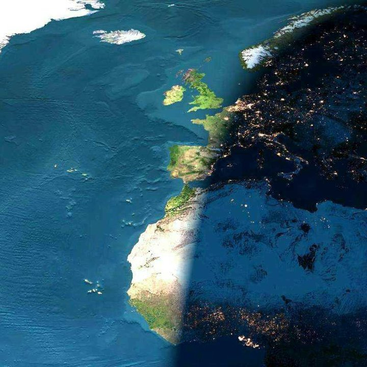 Africa and Europe from space