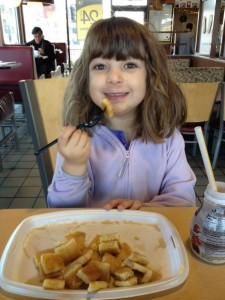 My daughter Salma at McDonald's