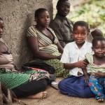 Tanzanian schoolgirl Sylvia with her family.