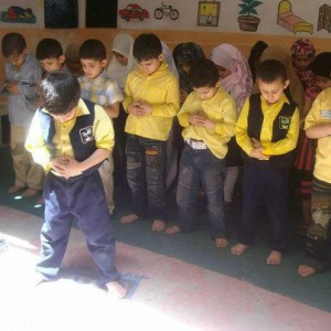 "Schoolchildren. ""I challenge anyone to find one other activity so blessed by Allah or man."" - Shariffa Carlo"