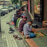 Daily prayer in Kuala Lumpur, Malaysia, 2012.