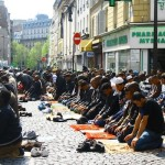 Muslims in France praying in the street. The French government stubbornly blocks the opening of new masjids, or expansion of existing ones.