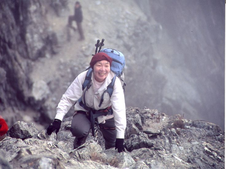 Woman climbing Mt. Everest