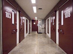 Guantanamo prison cell