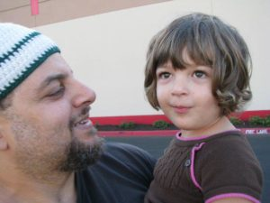 Wael and his daughter.